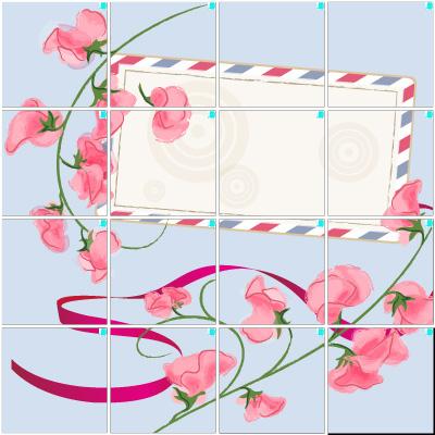 スイートピー(4×4)