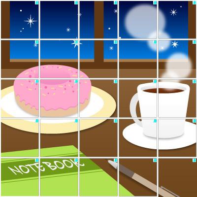ドーナツ&コーヒー(5×5)