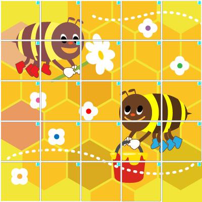 ハチ(5×5)