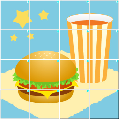 ハンバーガー(4×4)