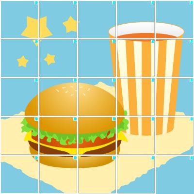 ハンバーガー(5×5)