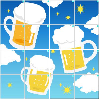 ビール(4×4)