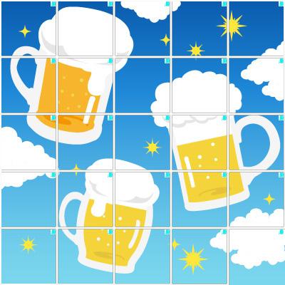 ビール(5×5)