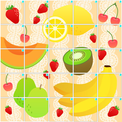 フルーツ(5×5)