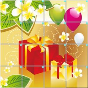 プレゼント(4×4)