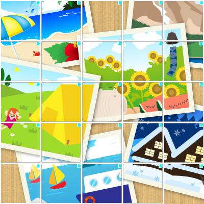 思い出の写真(5×5)