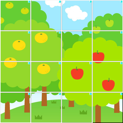 木々(4×4)