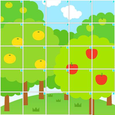 木々(5×5)