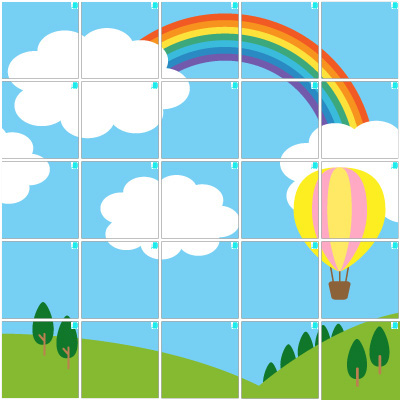 気球(5×5)