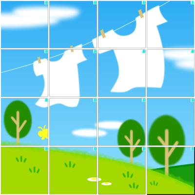 洗濯物(4×4)