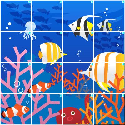 海の中(4×4)