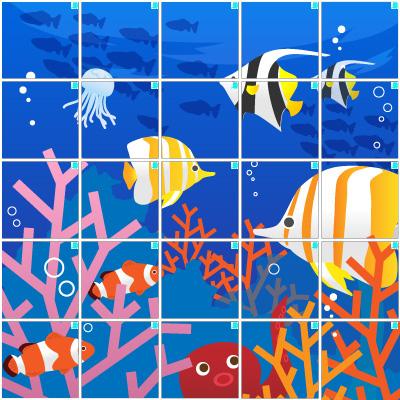 海の中(5×5)