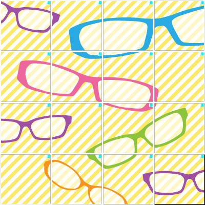 眼鏡(4×4)