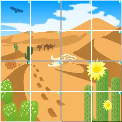 砂漠(4×4)