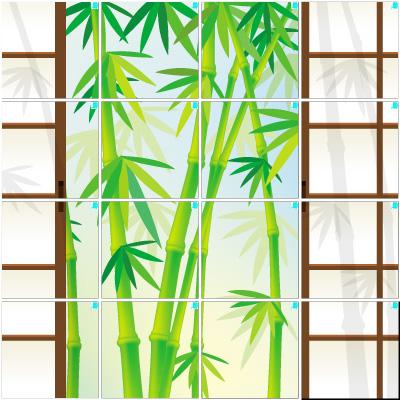 竹と障子(4×4)