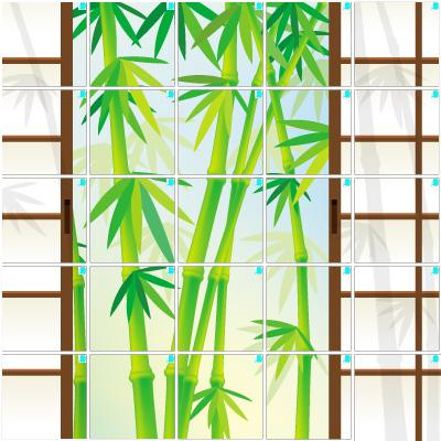 竹と障子(5×5)