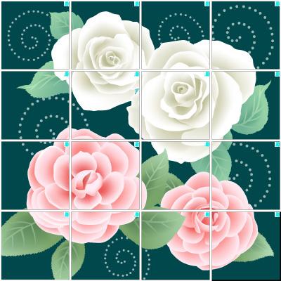 薔薇の花(4×4)