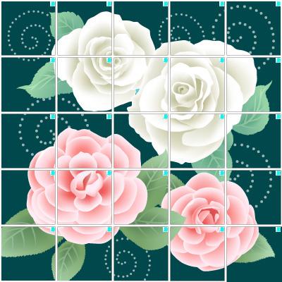 薔薇の花(5×5)
