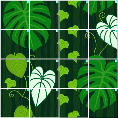 観葉植物(4×4)
