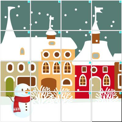雪の街(4×4)