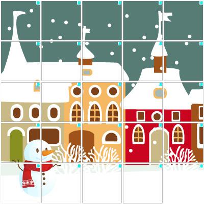 雪の街(5×5)