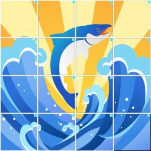 鮭(4×4)