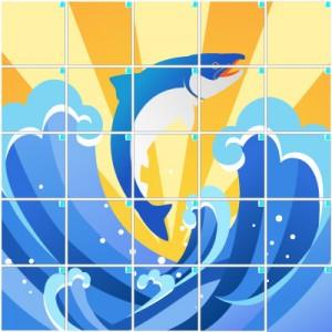 鮭(5×5)