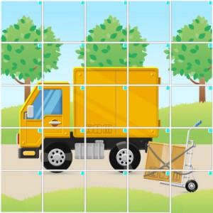 引っ越しトラック(5×5)