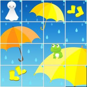雨の日(4×4)