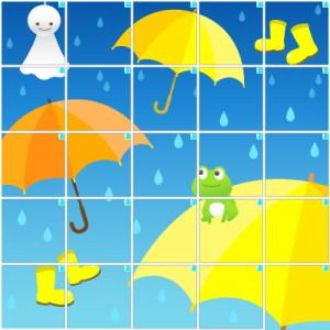 雨の日(5×5)