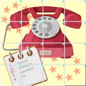 電話(4×4)