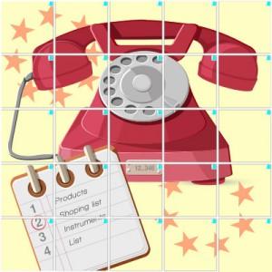 電話(5×5)