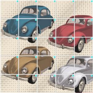 レトロな車(5×5)