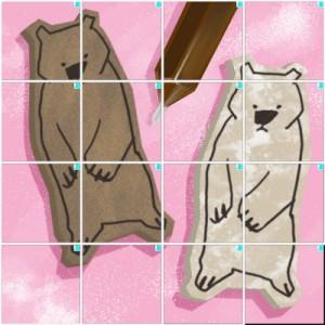 クマのクッキー(4×4)