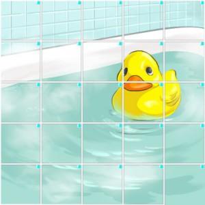お風呂とアヒル(5×5)