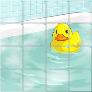 お風呂とアヒル(4×4)