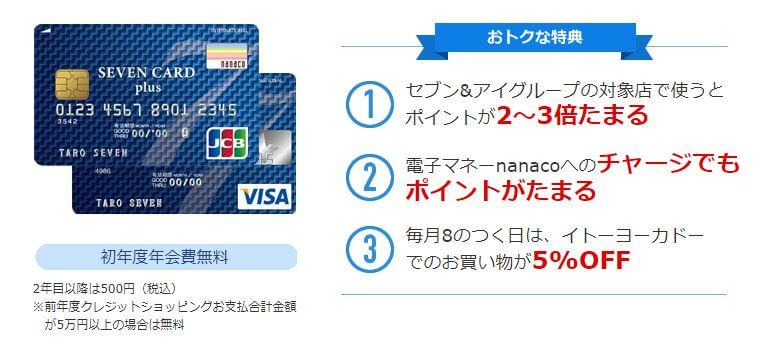 nanacoチャージのsevencard
