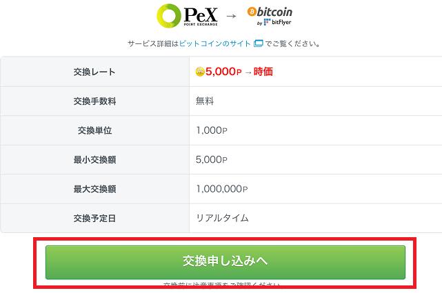 PeXビットコイン交換2