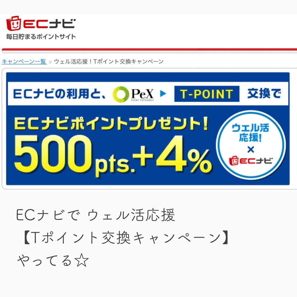 ECナビポイントサイトウェル活キャンペーン